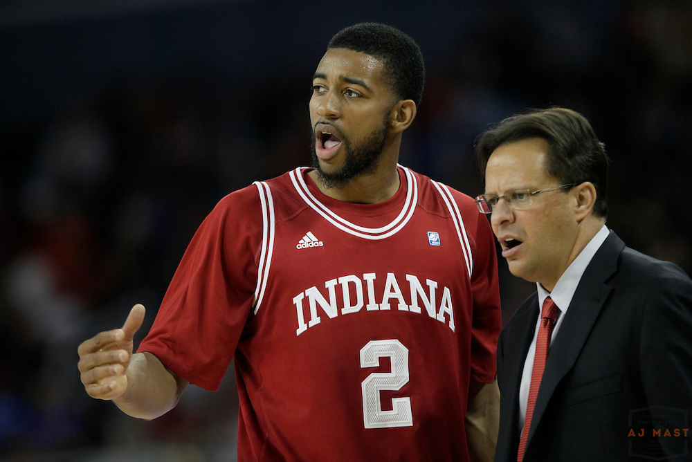 16 November 2011: Indiana Forward Christian Watford (2)  as the Indiana Hoosiers played the Evansville Purple Aces in a college basketball game in Evansville, Ind.