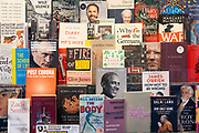 Some of the many best-selling non-fiction book titles are well-presented in the window of Daunt Books on Cheapside in the City of London, the capitals financial district, on 26th February 2021, in London, England.