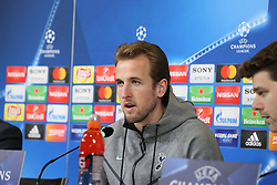 February 12, 2018 - Turin, Piedmont, Italy - Harry Kane (Tottenham Hotspur FC) during the Tottenham Hotspur FC press conference on the eve of the first leg of the Round 16 of the UEFA Champions League 2017/18 between Juventus FC and Tottenham Hotspur FC at Allianz Stadium on 12 February, 2018 in Turin, Italy. (Credit Image: © Massimiliano Ferraro/NurPhoto via ZUMA Press)