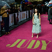 Darci Shaw arrivers at the Judy - London premiere at Curzon Mayfair, 38 Curzon Street, on 30 September 2019, London, United Kingdom