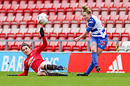 Reading crosses the ball during the FA Women's Super League match between Manchester United Women and Reading LFC at Leigh Sports Village, Leigh, United Kingdom on 7 February 2021.