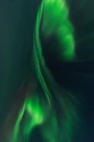 Northern lights - Aurora Borealis Corona fills sky over Lofoten Islands, Norway