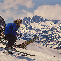 Mammoth Mountain ski area, California,