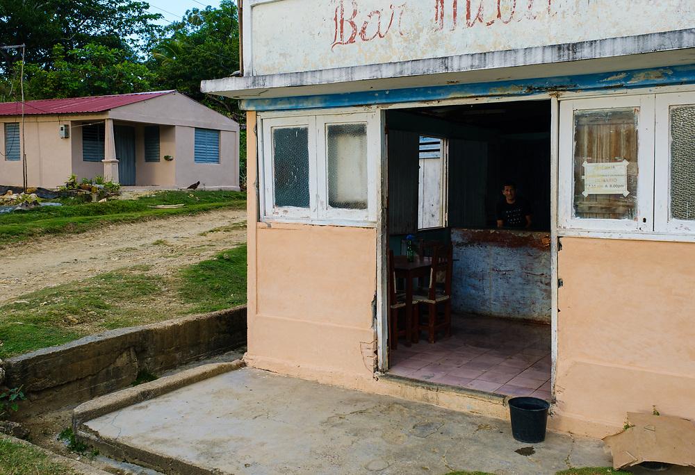 BARACOA, CUBA - CIRCA JANUARY 2020: Local restaurant in Bahia de Mata, a village close to Baracoa in Cuba.