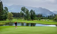 WESTENDORF -  Tirol   Oostenrijk,  - green hole 9  met hole 18 en 10. Golfanlage Kitzbuheler Alpen Westendorf.    COPYRIGHT KOEN SUYK