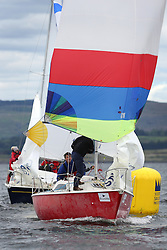 The Silvers Marine Scottish Series 2014, organised by the  Clyde Cruising Club,  celebrates it's 40th anniversary.<br /> Day 1 GBR8145N , Scruples , Chris Tait, Helensburgh SC<br /> <br /> Racing on Loch Fyne from 23rd-26th May 2014<br /> <br /> Credit : Marc Turner / PFM