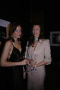 Pascale Bourbeau and Paige Boller. 4 Inches, A  Photographic Auction in aid of the Elton John Aids Foundation hosted by Tamara Mellon and Arnaud Bamberger. Christie's. 8 King St. London. 25 May 2005. ONE TIME USE ONLY - DO NOT ARCHIVE  © Copyright Photograph by Dafydd Jones 66 Stockwell Park Rd. London SW9 0DA Tel 020 7733 0108 www.dafjones.com