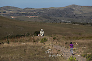 Santana do Riacho_MG, Brasil.<br /> <br /> Estatua do Juquinha no Parque Nacional Serra do Cipo em Santana do Riacho, Minas Gerais.<br /> <br /> The Juquinha statue at Serra do Cipo National Park in Santana do Riacho, Minas Gerais.<br /> <br /> Foto: LEO DRUMOND / NITRO
