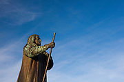 Statue of Hans Edege, Nuuk, Greenland, a Danish-Norwegian missionary who arrived in 1721 and founded the city  - then known as Godthab - in 1728. Copyright 2009 Dave Walsh
