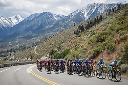May 18, 2018 - Nevada, U.S - Friday, May 18, 2018.The peloton moves along Kingsbury Grade Rd, Nevada, during Stage 2 of the Amgen Tour of California Women's Race empowered with SRAM, which starts and finishes in South Lake Tahoe, California. (Credit Image: © Tracy Barbutes via ZUMA Wire)