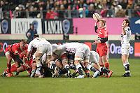 Michael Claasens / Julien Thomas - 28.12.2014 - Stade Francais / Racing Club Toulon - 14eme journee de Top 14<br />Photo : Aurelien Meunier / Icon Sport
