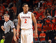Jan. 27, 2011; Charlottesville, VA, USA; Virginia Cavaliers guard Mustapha Farrakhan (2) reacts to a foul called on him during the game against the Maryland Terrapins at the John Paul Jones Arena. Mandatory Credit: Andrew Shurtleff