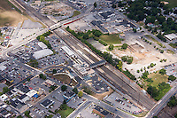 Aerial photo of Lancaster Pennsylvania Train Station by Jeffrey Sauers of Commercial Photographics