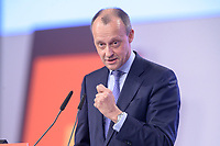 22 NOV 2019, LEIPZIG/GERMANY:<br /> Friedrich Merz, Rechtsanwalt, Lobbyist und ehem.  Vorsitzender der CDU/CSU-Bundestagsfraktion, haelt eine Rede, CDU Bundesparteitag, CCL Leipzig<br /> IMAGE: 20191122-01-202<br /> KEYWORDS: Parteitag, party congress