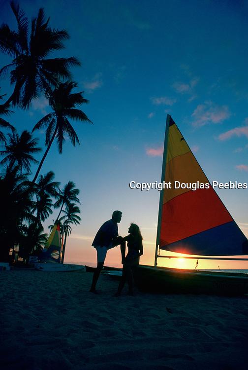 Couple on Beach, sunset<br />