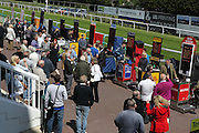 Bookies and punters at Brighton Racecourse, Brighton & Hove, United Kingdom on 10 June 2015. Photo by Bennett Dean.