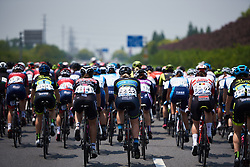 Nina Kessler (NED) sits at the back of the bunch at Tour of Chongming Island 2019 - Stage 1, a 102.7 km road race on Chongming Island, China on May 9, 2019. Photo by Sean Robinson/velofocus.com
