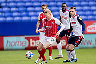 Cheltenham Town defender Lewis Freestone (17) during the EFL Sky Bet League 2 match between Bolton Wanderers and Cheltenham Town at the University of  Bolton Stadium, Bolton, England on 16 January 2021.
