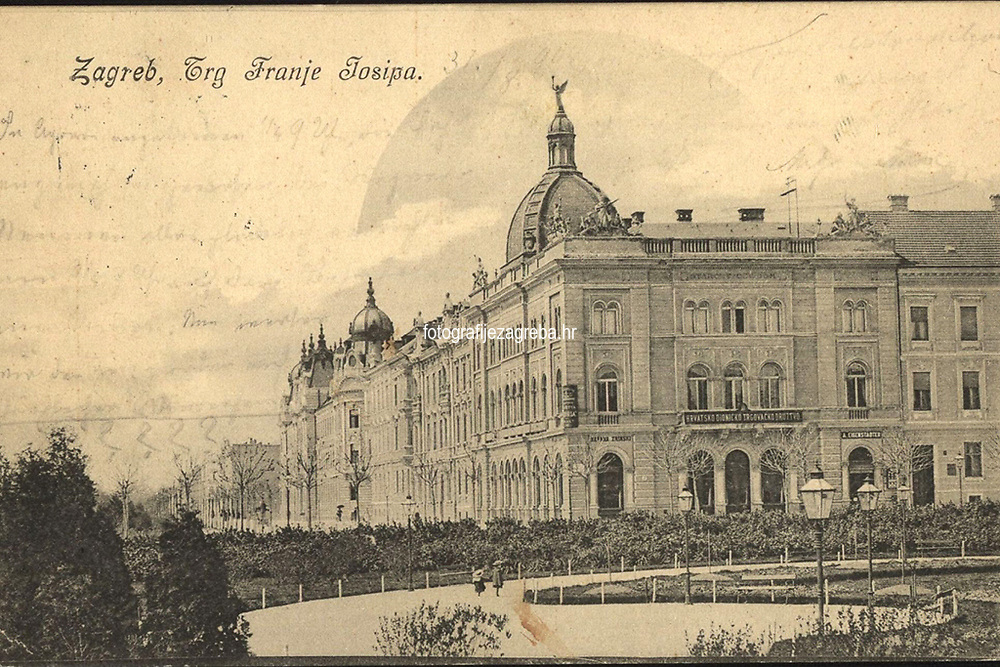 Zagreb Trg Franje Josipa.  <br /> <br /> ImpresumZagreb : Naklada A. Brusine, [oko 1904].<br /> Materijalni opis1 razglednica : tisak ; 14 x 9 cm.<br /> SuradnikMosinger, Rudolf(1865.–1918.)<br /> NakladnikTiskara A. Brusina<br /> Vrstavizualna građa • razglednice<br /> ZbirkaGrafička zbirka NSK • Zbirka razglednica<br /> Formatimage/jpeg<br /> PredmetZagreb –– Trg kralja Tomislava<br /> SignaturaRZG-TOM-80<br /> Obuhvat(vremenski)20. stoljeće<br /> NapomenaRazglednica putovala.<br /> PravaJavno dobro<br /> Identifikatori001000970<br /> NBN.HRNBN: urn:nbn:hr:238:263779 <br /> <br /> Izvor: Digitalne zbirke Nacionalne i sveučilišne knjižnice u Zagrebu