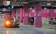 """TIANJIN, CHINA -  (CHINA OUT) <br /> <br /> """"Ladies only"""" Parking Places<br /> Photo shows the ladies' parking places marked in pink in the underground parking lot of a building materials mall in Tianjin, China. Many underground parking garages in Tianjin have designed special parking places for ladies to provide convenience for them. <br /> ©ChinaFoto/Exclusivepix"""
