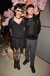 Finn Kemp and Charlotte at the Warner Music Group and British GQ Summer Party in partnership with Quintessentially held at Nobu Shoreditch, Willow StreetLondon England. 5 July 2017.