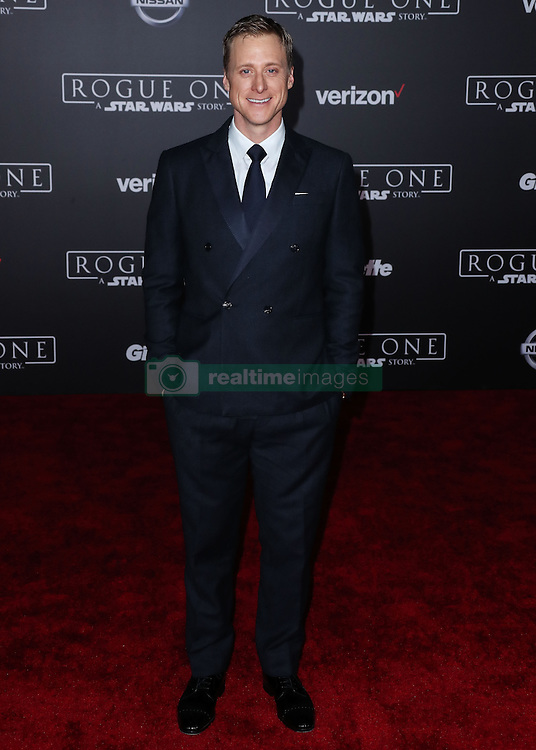 World Premiere Of Walt Disney Pictures And Lucasfilm's 'Rogue One: A Star Wars Story' at the Pantages Theatre on December 10, 2016 in Hollywood, California. 10 Dec 2016 Pictured: Alan Tudyk. Photo credit: Image Press/MEGA TheMegaAgency.com +1 888 505 6342