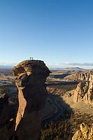 Rock climbing at Smith Rocks, OR.