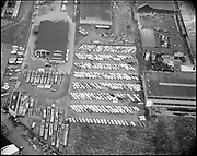 """Ackroyd 10052-1 """"Convoy Co. aerials of their parking lot. November 14, 1960"""" (NW Portland)"""