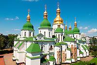 Ukraine, Kiev, Monastere Sainte Sophie. Patrimoine mondial de l Unesco. // Ukraine, Kiev, St Sophia's Cathedral. Unesco world heritage.