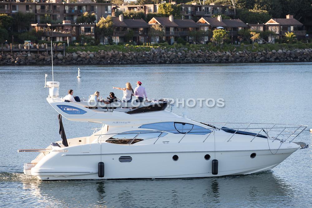 Private Boat in the Harbor in Marina Del Rey