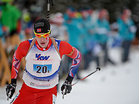 Skiskyting<br /> 30.01.2015<br /> Foto: Gepa/Digitalsport<br /> NORWAY ONLY<br /> <br /> BUERSERBERG - ØSTERRIKE <br /> European Youth Olympic Festival 2015, relay 2x6km ladies and 2x7.5 men, mixed team. Image shows Sturla Holm Lægreid (NOR).