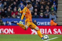 March 9, 2019 - Leicester, Leicestershire, United Kingdom - Sergio Rico of Fulham FC taking a goal kick during the Premier League match between Leicester City and Fulham at the King Power Stadium, Leicester on Saturday 9th March 2019. (Credit Image: © Mi News/NurPhoto via ZUMA Press)