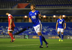 Birmingham City's Robert Tesche celebrates scoring his side's fourth goal of the game against Crawley Town
