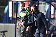 Wycombe Wanderers manager Gareth Ainsworth  gestures and shouts during the EFL Sky Bet Championship match between Wycombe Wanderers and Norwich City at Adams Park, High Wycombe, England on 28 February 2021.