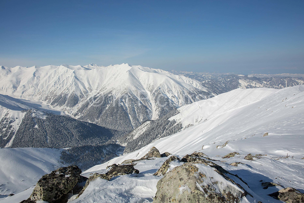 The remote Kackar Mountains on the 4th March 2019 near Ayder in Eastern Turkey.