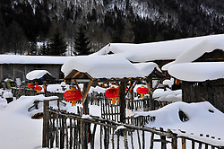 May 25, 2017 - Mudanjiang, Mudanjiang, China - Mudanjiang, CHINA-Dec 6 2013: (EDITORIAL USE ONLY. CHINA OUT) The Shuangfeng Forest Farm, nicknamed as 'China Snow Town', is reputed as the most desirable place to experience the thickest snow and plentiful snow activities in northeast China's Heilongjiang Province. (Credit Image: © SIPA Asia via ZUMA Wire)