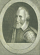 Richard Grenville (1541?-1591) English naval commander and hero.  Tennyson celebrated his  bravery at Flores in 1591 in his poem 'The Revenge: A Ballad of the Fleet'. Engraving by Michiel van der Gucht (1660-1725) for Clarendon's 'History'.