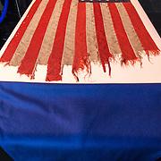 NLD/Leiden/20190404 - Margriet bij galadiner van 'The Netherlands America Foundation', de D-Day vlag