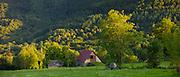 Traditional barn near Auchun in the Pyrenees National Park, France