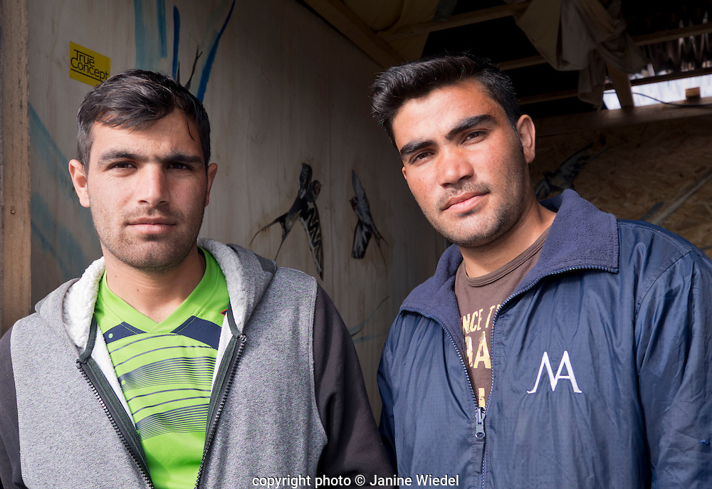 Cousins from Afghanistan living in The Calais Jungle fast realising the imposibility of ever reaching London