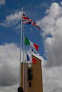 Motherwell, SCOTLAND. Sun A  Finals, Medal Flags, 2007 FISA U23 World Championship Regatta, Strathclyde Country Park, North Lanarkshire 29/07/2007 [Mandatory credit Peter Spurrier/ Intersport Images]