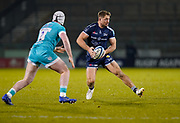 Sale Sharks centre Sam Hill during the Gallagher Premiership match Sale Sharks -V- Worcester Warriors at The AJ Bell Stadium, Greater Manchester,England United Kingdom, Friday, January 08, 2021. (Steve Flynn/Image of Sport)