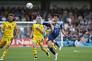 Wycombe Wanderers defender Joe Jacobson (3) on defensive duties during the EFL Sky Bet League 1 match between Wycombe Wanderers and Oxford United at Adams Park, High Wycombe, England on 15 September 2018.