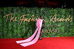 Alek Wek attending the Fashion Awards in association with Swarovski held at the Royal Albert Hall, Kensington Gore, London.