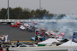 February 10, 2019 - Daytona, FL, U.S. - DAYTONA, FL - FEBRUARY 10: The Big One collects several cars during the Advance Auto Parts Clash on February 10, 2019 at Daytona International Speedway in Daytona Beach, FL. (Photo by David Rosenblum/Icon Sportswire) (Credit Image: © David Rosenblum/Icon SMI via ZUMA Press)