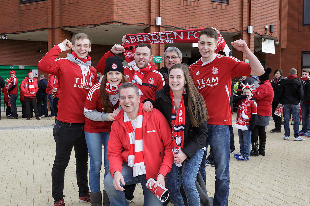 Scottish League Cup Final Aberdeen V Inverness CT at Parkhead on Sunday, 16th of March 2014, Aberdeen Scotland.<br /> Pictured: Dons Fans<br /> (Photo Ross Johnston/Newsline Scotland)