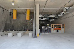 Edward P. Evans Hall at The Yale School of Management Construction Progress Photograph. 28 August 2012. Basement Level, Loading Dock. Camera View: North.