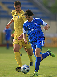 Jovan Vidovic vs Etien Velikonja at 32th Round of Slovenian First League football match between NK Domzale and NK Hit Gorica in Sports park Domzale, on May 6, 2009, in Domzale, Slovenia. Gorica won 2:0. (Photo by Vid Ponikvar / Sportida)