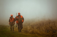 Two of a group that were driving deer during a hunt come back empty handed - traditions being pasted down.