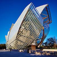 France, Paris (75), La Fondation Louis Vuitton de l'architecte Frank Gehry // France, Paris, Louis Vuitton Foundation (Fondation Louis Vuitton), Art Museum